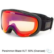 Giro Field Womens Goggles 2017, Black Deco-Persimmon Blaze, medium