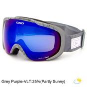 Giro Field Womens Goggles, Titanium Deco-Grey Purple, medium