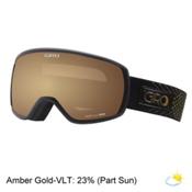 Giro Facet Womens Goggles 2017, Black-Gold Stellar-Amber Gold, medium
