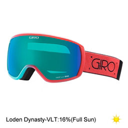 Giro Facet Womens Goggles 2017, Coral-Turquoise Dual-Loden Dyn, 256