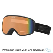 Giro Facet Womens Goggles, Black Cross Stitch-Persimmon B, medium