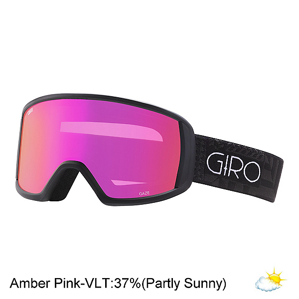 Giro Gaze Womens Goggles 2017, Black Pocket Square-Amber Pink, 600