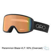 Giro Gaze Womens Goggles 2017, Black Pocket Square-Persimmon, medium