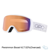 Giro Gaze Womens Goggles 2017, White Pocket Square-Persimmon, medium