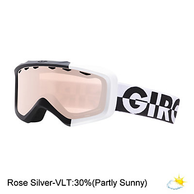 Giro Grade Kids Goggles 2017, Black-White 50-50-Rose Silver, viewer