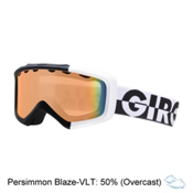 Giro Grade Kids Goggles, Black-White 50-50-Persimmon Bl, medium