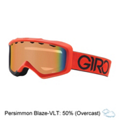Giro Grade Kids Goggles 2017, Red-Black Dual-Persimmon Blaze, medium
