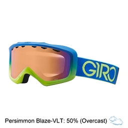Giro Grade Kids Goggles, Blue-Lime Dual-Persimmon Boost, 256