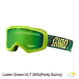 Giro Grade Kids Goggles 2017, Lime Secret Ooze-Loden Green, 256
