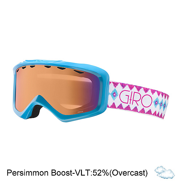 Giro Grade Kids Goggles, White-Aqua Beaded-Persimmon Bo, 600