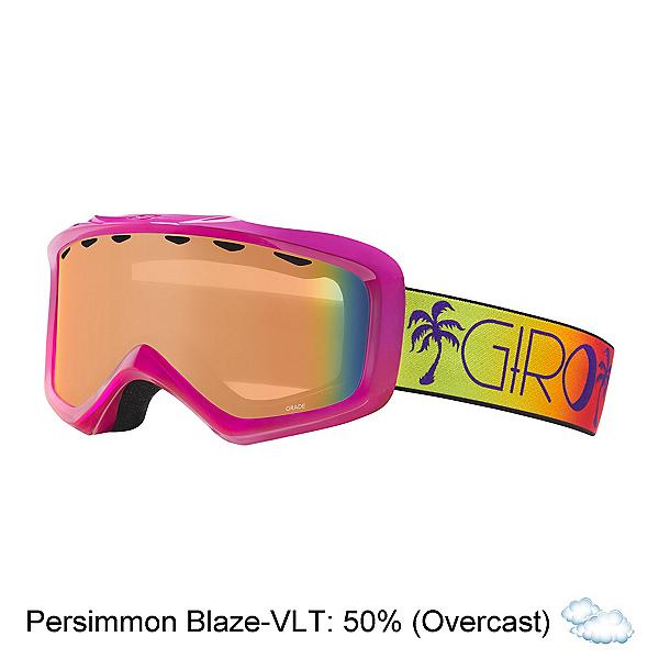 Giro Grade Kids Goggles 2017, Berry-Magenta Palms-Persimmon, 600