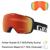 Giro Contact Goggles 2017, Black Wordmark-Amber Scarlet + Bonus Lens, medium