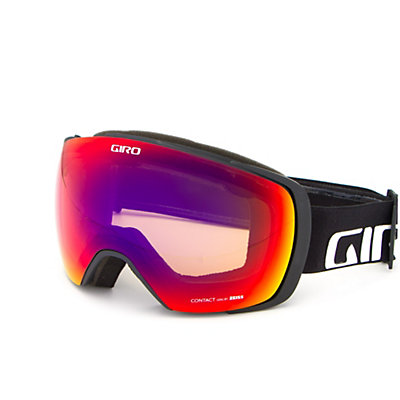 Giro Contact Goggles 2017, Black Wordmark-Amber Scarlet + Bonus Lens, viewer
