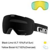 Giro Contact Goggles 2017, Black Wordmark-Black Limo + Bonus Lens, medium