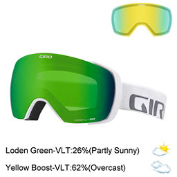 Giro Contact Goggles 2017, White Wordmark-Loden Green + Bonus Lens, 256