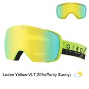 Giro Contact Goggles 2017, Lime-Black Slash-Loden Yellow + Bonus Lens, medium