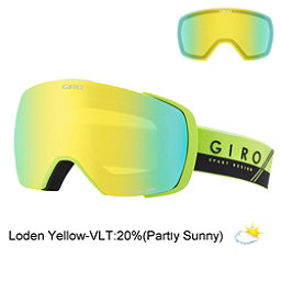 Giro Contact Goggles 2017, Lime-Black Slash-Loden Yellow + Bonus Lens, 256