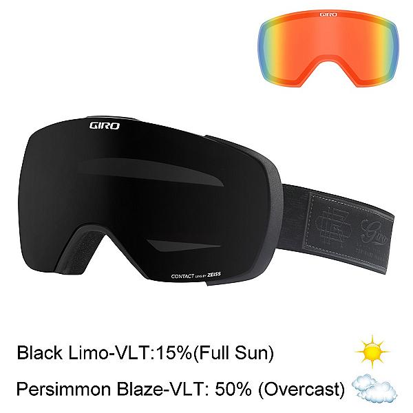 Giro Contact Goggles 2017, Black Blazer-Black Limo + Bonus Lens, 600