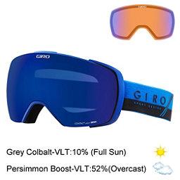 Giro Contact Goggles, Blue-Black Slash-Grey Cobalt + Bonus Lens, 256