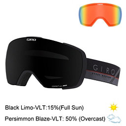 Giro Contact Goggles 2017, Black-Grey Slash-Black Limo + Bonus Lens, 256