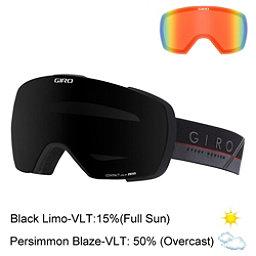 Giro Contact Goggles, Black-Grey Slash-Black Limo + Bonus Lens, 256
