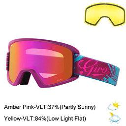 Giro Dylan Womens Goggles 2017, Berry-Aqua Tropical-Amber Pink + Bonus Lens, 256