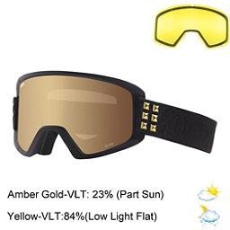 Giro Dylan Womens Goggles 2017, Black-Gold Stud-Amber Gold + Bonus Lens, 256