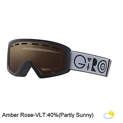 Giro Rev Kids Goggles, Black Geo-Amber Rose, viewer