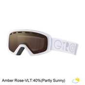 Giro Rev Kids Goggles, White Geo-Amber Rose, medium