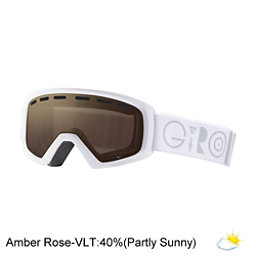 Giro Rev Kids Goggles, White Geo-Amber Rose, 256