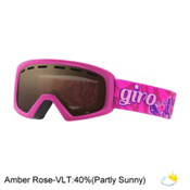 Giro Rev Kids Goggles, Berry-Magenta Butterflies-Ambe, medium