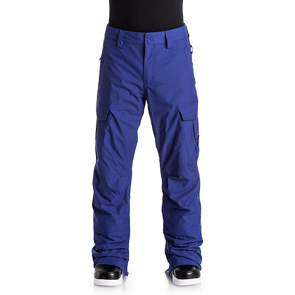 Quiksilver Porter Shell Mens Snowboard Pants, Sodalite Blue, 600