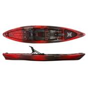 Perception Pescador Pro 12.0 Fishing Kayak 2017, Red Tiger Camo, medium