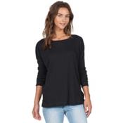 Volcom Lived In Go Crew Womens Shirt, Black, medium