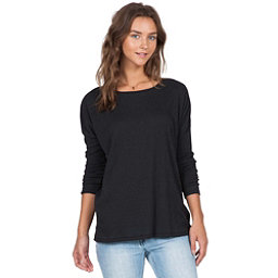 Volcom Lived In Go Crew Womens Shirt, Black, 256