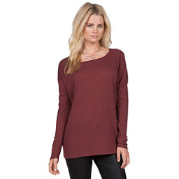 Volcom Lived In Go Crew Womens Shirt, Crimson, 256