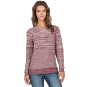 Volcom Cruisin On Crew Womens Sweater, Crimson, medium