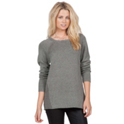 Volcom Air It Out Crew Womens Sweater, Heather Grey, medium