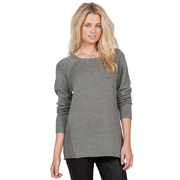 Volcom Air It Out Crew Womens Sweater, Heather Grey, 600
