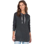 Volcom Lived In Long Pullover Hoody, Black, medium