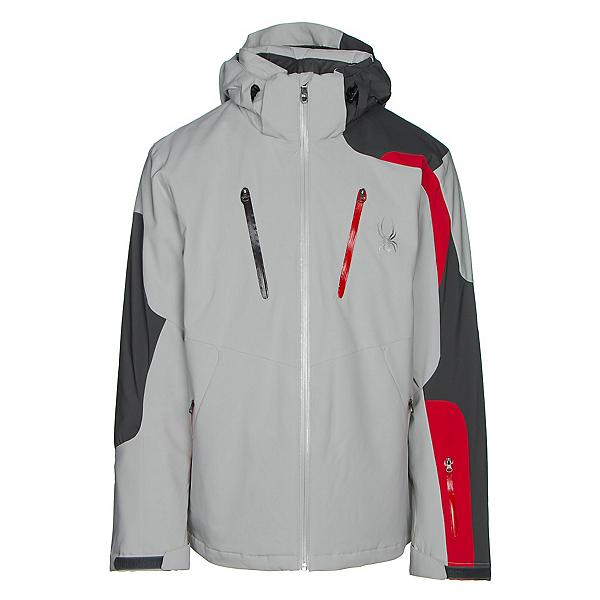 Spyder Dispatch Mens Insulated Ski Jacket, Cirrus-Polar-Red, 600