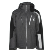 Spyder Dispatch Mens Insulated Ski Jacket, Polar Crosshatch-Black-Cirrus, medium