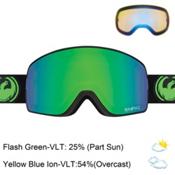 Dragon NFX2 Goggles 2017, Jet-Green Ionized + Bonus Lens, medium