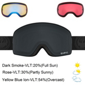 Dragon NFX2 Goggles 2017, Knight Rider-Dark Smoke + Bonus Lens, medium