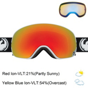 Dragon X2s Goggles 2017, Inverse-Red Ionized + Bonus Lens, medium