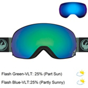 Dragon X2s Goggles 2017, Hone Emerald-Optimized Flash G + Bonus Lens, medium