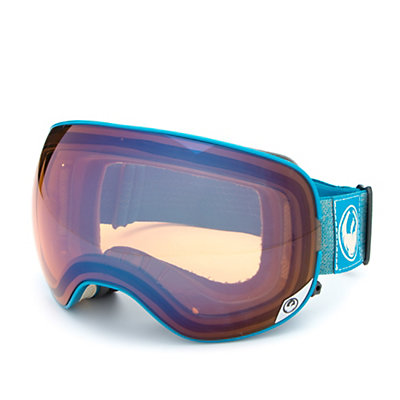 Dragon X2 Goggles 2017, Hone Blue-Optimized Flash Blue + Bonus Lens, viewer