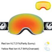 Dragon X2 Goggles, Inverse-Red Ionized + Bonus Lens, medium
