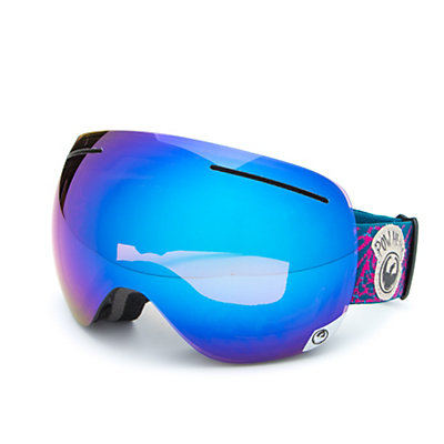 Dragon X1 Goggles 2017, Pow Heads Red-Blue Steel + Bonus Lens, viewer
