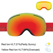 Dragon X1 Goggles 2017, Stone Red-Red Ionized + Bonus Lens, medium